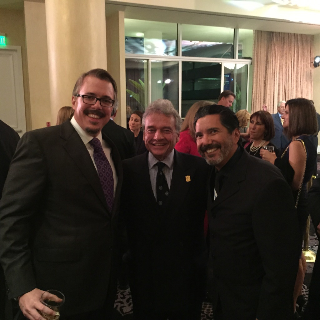 "Dr Mark Gold with ""Breaking Bad"" Creator Vince Gilligan DEA's Global Leadership Award Dinner."