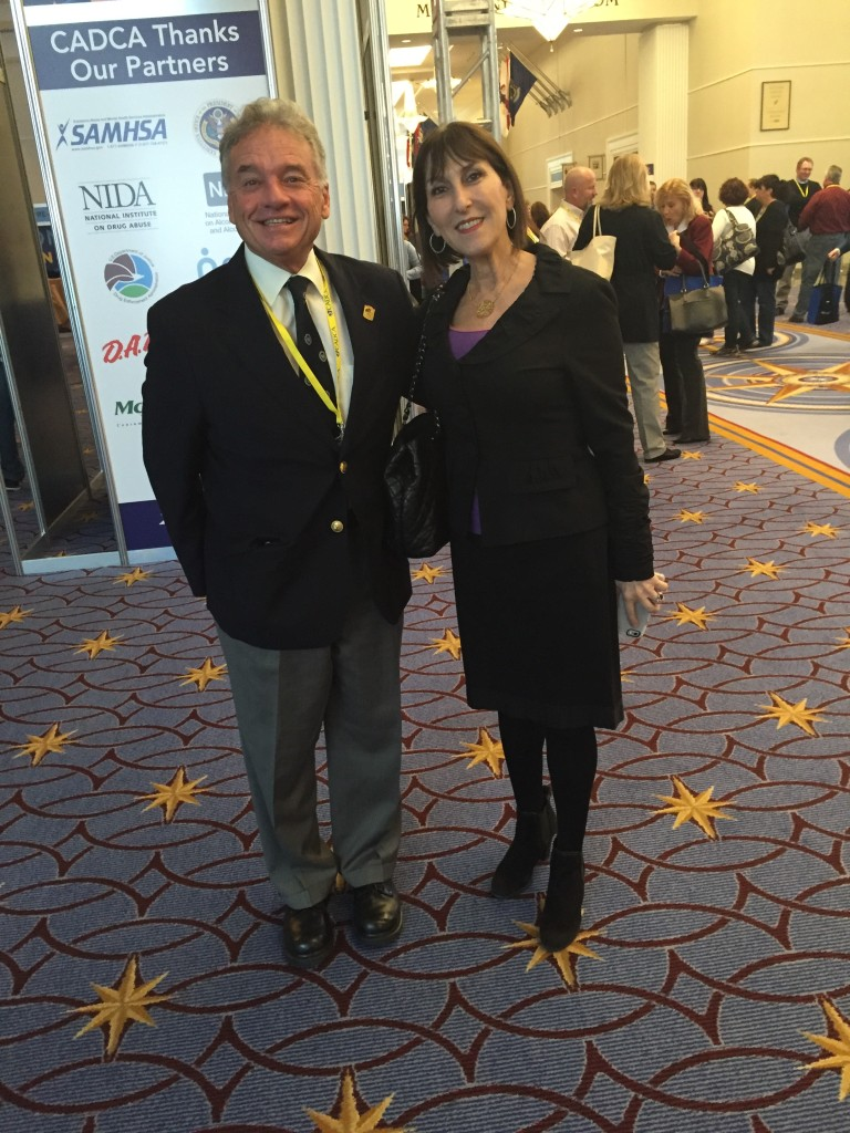 Dr Mark Gold and Sue Thau, Public Policy Consultant representing Community Anti-Drug Coalitions of America, at CADCA Annual Conference.
